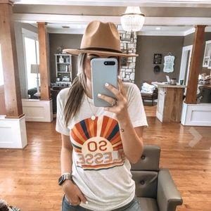 Women's belt buckle fedora hat